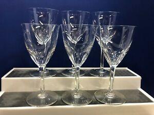Vintage Baccarat Crystal Zurich Cut Claret Wine Glasses - Selling Per Glass