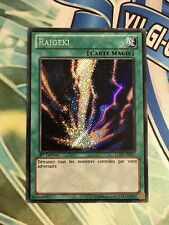 YUGIOH French Card Raigeki LCJW-FR057 LCJW-EN057 Secret Rare 1st Edition