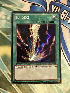 YUGIOH French Card Raigeki LCJW-FR057 LCJW-EN057 Secret Rare 1st Edition