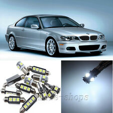 Error Free White 16pcs Interior LED Light Kit for 2000-2006 BMW E46 M3