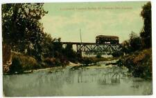 c1910 St Thomas Ontario Canada streetcar on Lyndhurst Traction Bridge