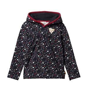 Steiff Hoodie Sweatshirt Pullover Kapuze dunkel blau navy Blüten  L001922603