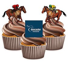 Horse Racing Doncaster Racecourse - 12 Edible Cup Cake Toppers Cake Decorations