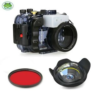 Seafrogs 60M Underwater Camera Housing Case for Sony A6500 A6300 A6000+Dome Port