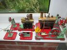 2 Vintage Mamod steam engines,  with original burners and extras