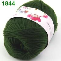 Sale New 1ballx50g Soft Cashmere Silk Wool Baby Children Hand Knitting Yarn 44