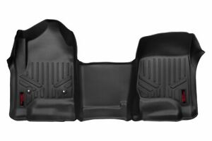 Rough Country Durable Floor Mats (fits) 2014-2018 Silverado Sierra Full Console