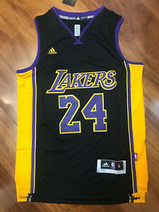 NWT Men's Kobe Bryant #24 Los Angeles Lakers Swingman Jersey Black Size S-XXL