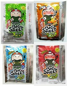 TAO KAE NOI Tom Yum Goong Flavour Fried Crispy Seaweed Snacks BIG SHEET 31g.