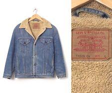 Vintage Mens LEVIS Sherpa Denim Jacket Trucker Blue Size L