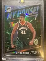 Giannis Antetokounmpo 2019-20 Donruss Optic My House Holo Silver Prizm *Damage*