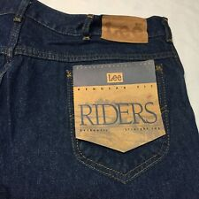 Vintage 42x30 Lee Riders Blue Jeans Regular Fit Straight Leg Rodeo Cowboy Denim