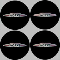 4 autocollants stickers MINI JCW noir chrome 35 à 100 MM pour centre de jantes