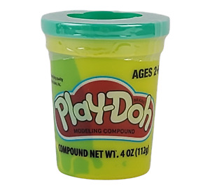 PLAY-DOH Modeling Compound Clay Single Tub 4 oz GREEN  Factory Sealed NEW