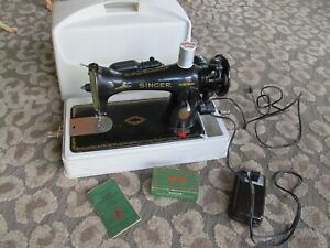 Vintage 1950 Singer 15-91 Sewing Machine with Accessories Case Etc. VERY NICE