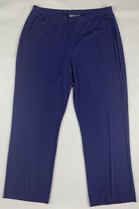 Chicos Easywear Lounge Pants Womens 3 Short Wide Pant Purple Stretch Comfort