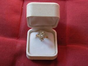 ancienne bague MARQUISE or jaune 18 carats