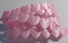 1 metre of PINK Heart Shaped Braid / Ribbon - each heart is 16mm wide & deep