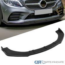 Universal Matte Black Front Bumper Lip Spoiler Splitter Body Kits 3pc Style Benz Fits Cayenne