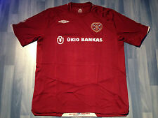 X LARGE Adulti Heart of Midlothian Football Shirt Stagione 2008-2009 Home