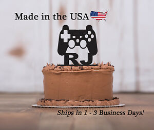 Game Controller Birthday  Cake Topper, Any Name,  Personalized Topper, LT1214