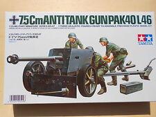 75 MM PACK GUN 40/L46 + 3 FIGURINI - 1/35 - TAMIYA 35047 : (1960)