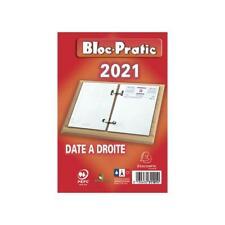 [Ref:31101E] EXACOMPTA Bloc pratic éphéméride date à droite 120x82mm