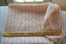 Vtg Antique 1800's cotton Fabric Quilt Dress Candy Pink Stripes