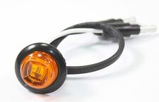 """3/4"""" Bullet Amber Round Mini LED Light Clearance Side Marker Truck Trailer Jeep"""