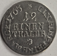 1/12 Taler Sachsen 1763 Leipzig