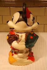 Vintage Mickey and Minnie Mouse Turnabout Cookie Jar (014)