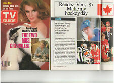 TV GUIDE ANN MARGRET THE TWO MRS. GRENVILLES RENDEZ-VOUS '87 HOCKEY TOWERS OOP