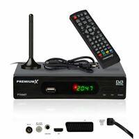PremiumX Full HD Digital DVB-T2 Receiver mit Antenne terrestrisch USB SCART HDMI