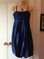 Pretty BNWT dark blue silky detachable straps size 8 dress Trinny & Susannah