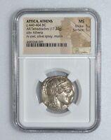 NGC-MS ATTICA, Athens. 440-404 BC. AR Tetradrachm. K10002