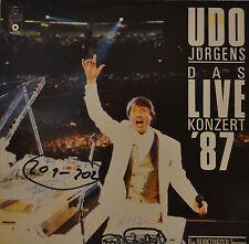 """UDO JÜRGENS - LE LIVE KONZERT 87 12"""" 2 LP (T85)"""