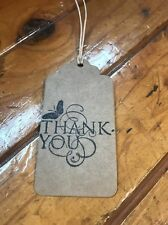 Handmade Handcrafted Butterfly Natural Rustic Thank You Gift Tags x 6