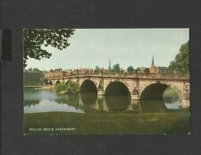 Vintage J Salmon Colour Postcard English Bridge Shrewsbury-unposted