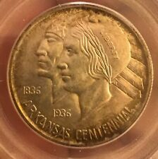 1939-d Arkansas commemorative  half dollar , scarce PCGS MS64 OGH