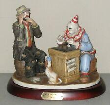 "Emmett Kelly Limited Edition Sculpture ""Misfortune?"" w/Original Box / 9797"