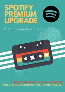 Spotify Premium Account   Upgrade your own account (Own username and Password)