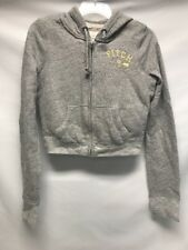Abercrombie and Fitch Gray Grey hoodie sweatshirt women's size Medium Paddle 9