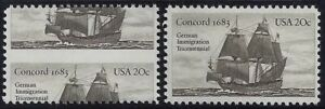 """2040 - Huge Misperf Error / EFO """"German Immigration"""" """"Down the Middle"""" Mint NH"""