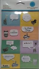 Animals and Phrases   8 Pcs Children Stickers Martha Stewart NIP