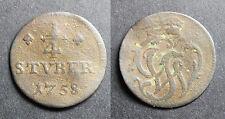 Allemagne, ¼ Stuber Johann Ludwig Adolf, 1758