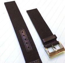 Genuine Gucci 18mm Black Nylon/Leather Watch Band-REDUCED PRICE