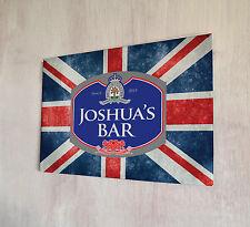 Personnalisé union jack beer label plaque métal signe pubs et clubs man cave