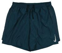 "NIKE Challenger 7"" Running Shorts Large Green Outdoor Fitness Run Standard Fit"