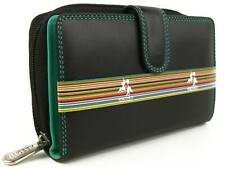 Quality Ladies Soft Leather Two Tone Purse Wallet by Visconti; Colorado Gift Box