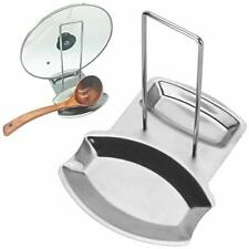 1 Pcs Stainless Steel Pan Pot Cover Lid Rack Stand Spoon Rest Stove Organizer